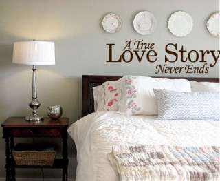 BIG A TRUE LOVE STORY NEVER ENDS   Vinyl Wall Art Decal