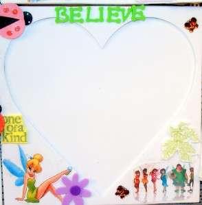 10 Disney Fairies TinkerBell Heart Frames Party Favors