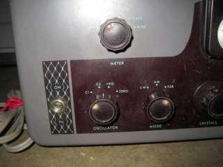 Johnson Viking Valiant AM SSB HAM Radio Receiver NR