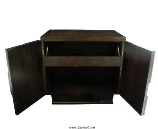 Modern Art Deco Mid Century Espresso Night Table Nightstands Cabinets