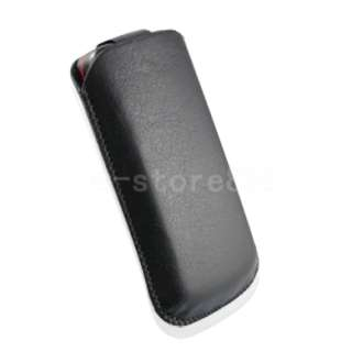 New Leather Case Pouch + LCD Film For NOKIA C5 03 e