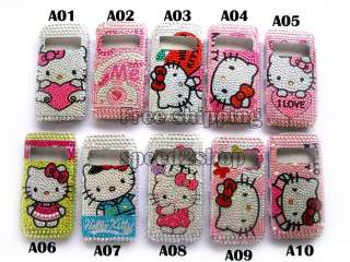 Hello kitty Rhinestone Bling Case Skin for nokia C7 New