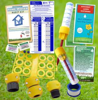 Outdor Home Water Audit Kit, garden hose repair leaks