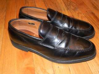 ALLEN EDMONDS MENS BLACK LEATHER DRESS SHOES 11.5 D |