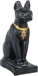 Egyptian Egypt Cat Statue Figurine Bastet Goddess Blk 7