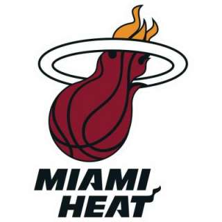 Fathead 29 In. X 40 In. Miami Heat Logo Wall Appliques FH62 62002 at