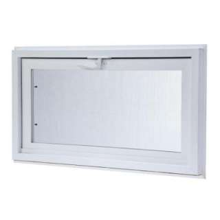 TAFCO WINDOWSVinyl Hopper Window, 32 in. x 22 in. White with Dual Pane