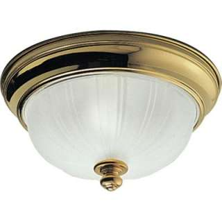 Progress LightingPrescott Collection Polished Brass 2 light Flushmount