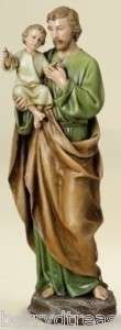14 ST. JOSEPH with BABY JESUS FIGURE Statue Indoor New