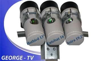 SAT Anlage Astra 19,2° + Eutelsat W2 16° + Hotbird 13°