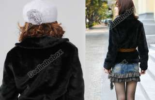 Hot Sale Korea Fashion Faux Fur Rabbit Hair Lady Warm Coat Jacket