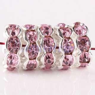 Crystal Rhinestone 10MM Flower Spacer Beads Findings