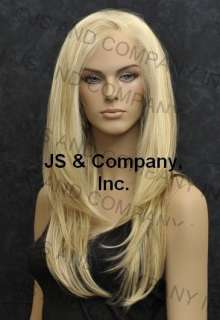 Hi Heat FRENCH LACE FRONT WIG Long Straight Strawberry Blonde & Pale