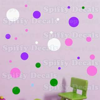 DOTS CHILD BOY GIRL Livingroom Bedroom Vinyl Wall Decal Decor Sticker