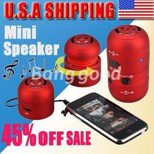 USB Mini LED Portable Multimedia Tweakers Speaker for iPod iPhone PC