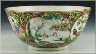 Early 19th Century Antique Chinese Famille Rose Bowl