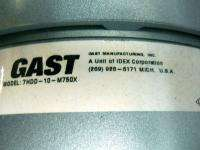 GAST 1.5 Hp Oilless Compressor Vacuum Pump 5 CFM Pre Wired 208   230