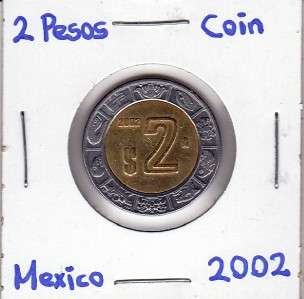 Mexico $ 2 Pesos Coin 2002 Brilliant For Collectors.