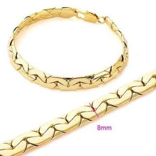 14k Yellow Gold Filled Unisex GF Snake Chain Bracelet Women Men