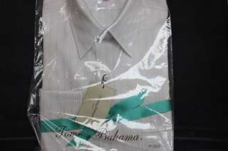 TOMMY BAHAMA MENS DRESS SHIRT WHITE/ PINK STRIPES NWT
