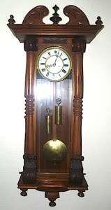 Rare Antique Double Weight Vienna Regulator wall clock Twin weight
