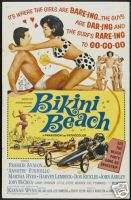 BIKINI BEACH MOVIE POSTER Frankie Avalon RARE VINTAGE