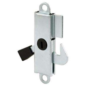 Prime Line Sliding Door Internal Lock, Aluminum with teel Hook and