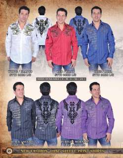 Fashion Long sleeve shirts for men. Button down. Made in USA. choose