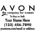 AVON LADY COSMETICS STICKER LOGO WINDOW VINYL DECAL