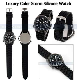 Men Lady Silicone Rubber Pilot Watch Retail/Wholesale