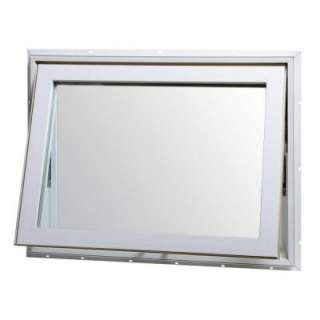 Awning Window, 32 in. x 24 in., White, Top Hinge, with Insulated Glass