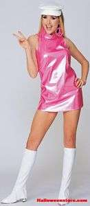 60s Retro Pink Go Go Girl Adult Costume Large (10 14)