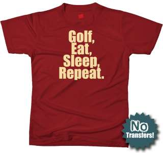 Golf Eat Sleep funny lover disc cool NEW T shirt