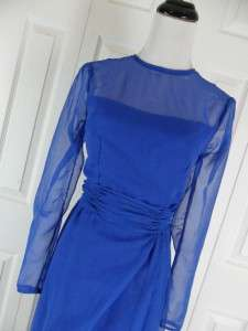 Vintage Alyce Designs Long Blue Gown Dress 0 2 4 Small