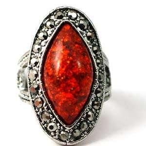 Size 6.5 8 9 10 Tibetan Silver Eye Style Gemstone Zirconia Finger Ring