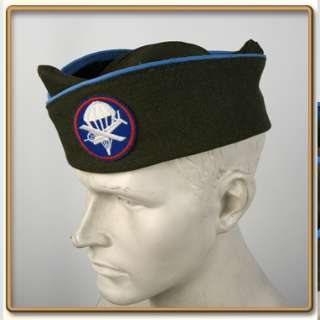 WW2 US Army EMs OD Wool Garrison Cap Infantry 57 61