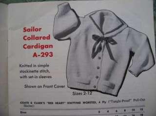 Vtg 60s 1962 CHILDRENS ATOMIC KNITS Sz 2 12f Knitting Crochet Patterns