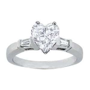 21 Carat Heart Shape Diamond Engagement Ring VS2