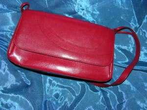 Susan Lucci Red Leather Handbag Purse