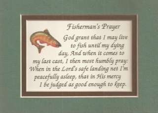 FISHERMAN prayers verses poems FISHING Fish Rod plaques