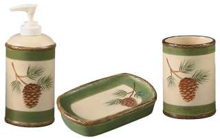 NEW  PARK DESIGNS   PINE LODGE CERAMIC BATH ACCESSORIES