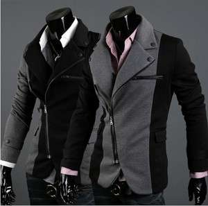 New Mens Slim Fit Small Suit/Coat/Jacket XS,S,M,L and color Gray,Black
