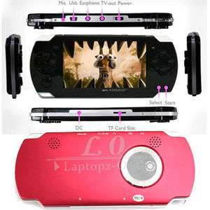 New 4GB 4.3 LCD Fashion Design  MP4 MP5 Game Player Red