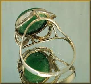 Chloromelanit (Jade)   Ring aus 333´er Gold Gr. 56