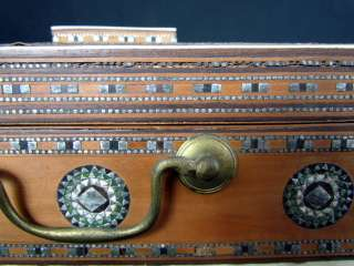 Superbl* Antique Anglo Indian Vanity or Sewing Box with Inlay |