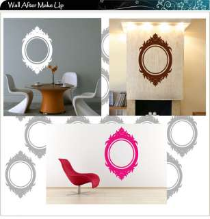 Mirror Frame Vinyl Art Wall Stickers / Wall Decals / Wall Art