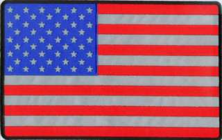 LARGE AMERICAN USA FLAG REFLECTIVE US Biker BACK PATCH