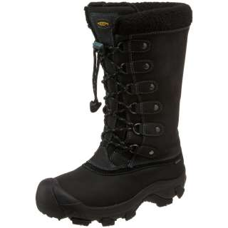 KEEN Womens ALASKA Waterproof Winter Boots in Black Deep Sea