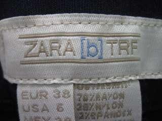 ZARA TRF Womens Navy Blue Rayon Pants Slacks Size 6