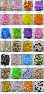 10 U Pick AIO Baby Cloth Diaper Re usable w/ 10 Inserts